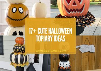 17+ Kreative Halloween-Topiary-Ideen