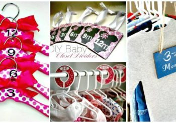 20 Easy DIY Baby Closet Dividers To Organize Baby Clothes