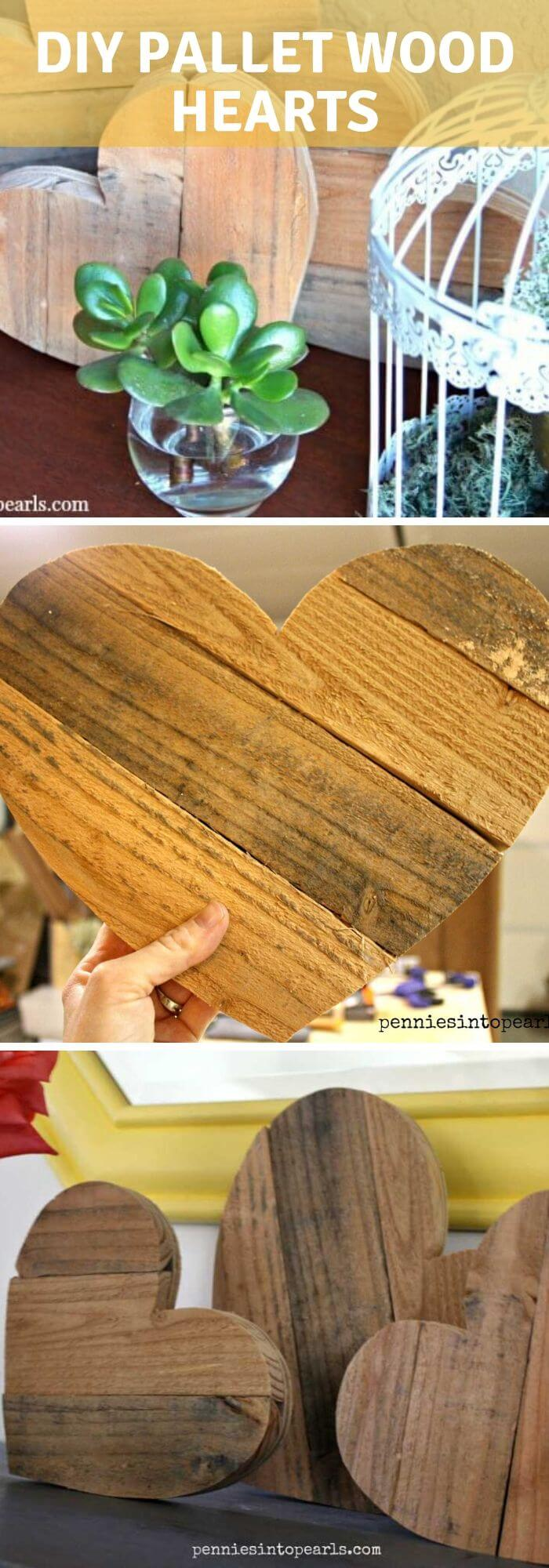 The anniversary heart sets - DIY Rustic Wood Heart Ideas & Projects