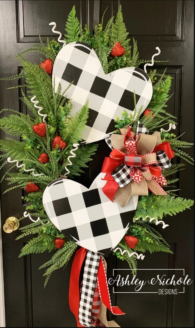 The rustic wreaths - Rustic Wood Heart Projects
