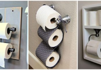 28 DIY Toilet Paper Holder Ideas