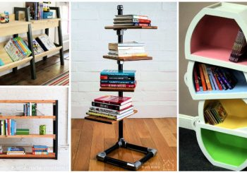 30 Homemade Bookshelf Ideas You Can Build By Yourself