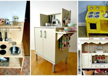 50 DIY Play Kitchen Projects For Your Kids