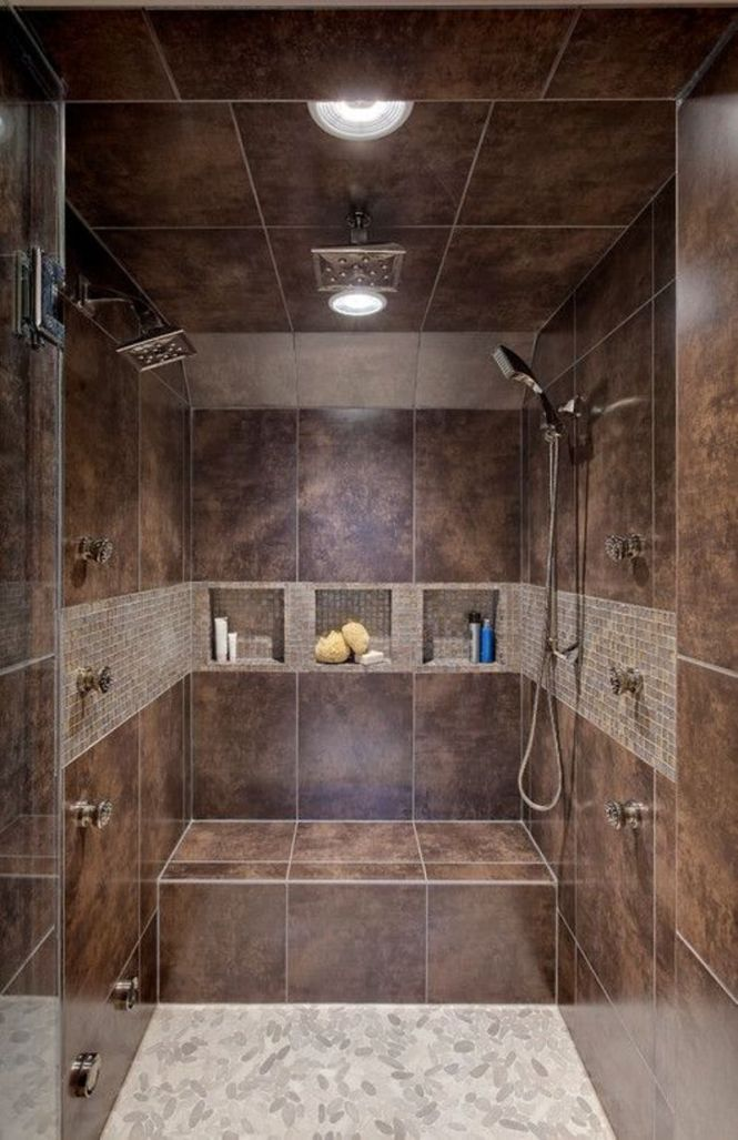 Brown Double Shower