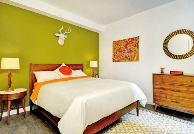 Accent Wall For Mid Century Bedroom