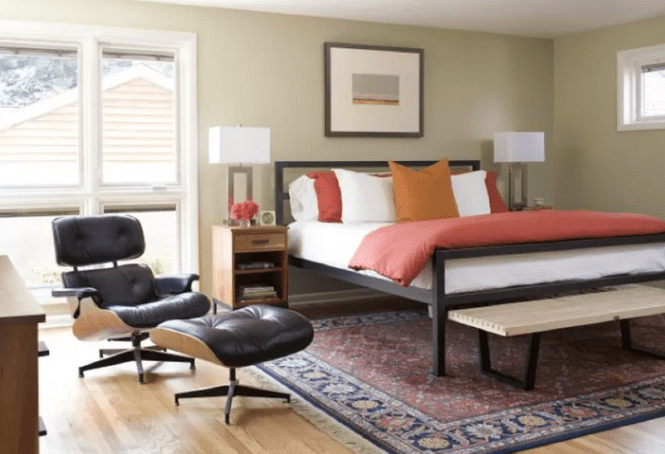 Mid Century Bedroom With Eames Chair