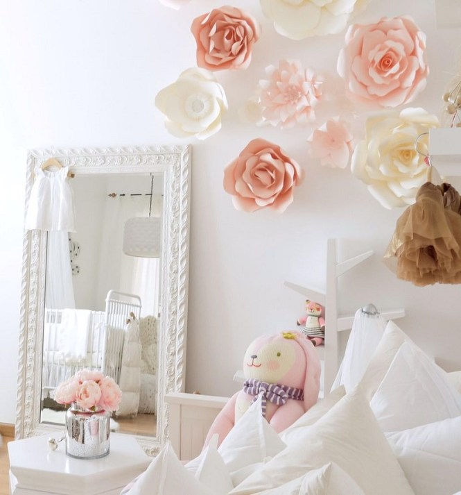 Wall With Blossoming Paper Flowers