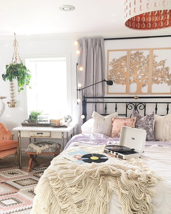 Blissfully Eclectic Bedroom