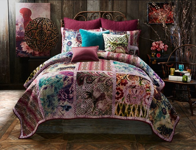 Bedroom With Funky Colors